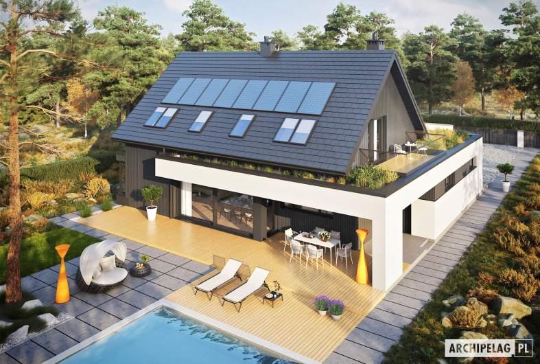 Projekt domu Malkolm G2 - widok z góry
