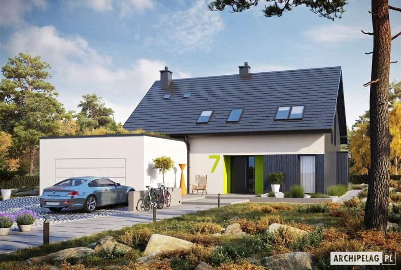 Projekt domu Malkolm G2 - wizualizacja frontowa