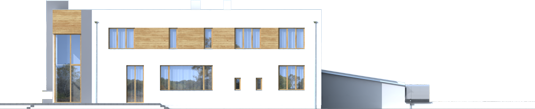 Маріан (Г2) - Projekt domu Marian G2 - elewacja lewa