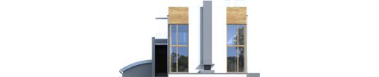Маріан (Г2) - Projekt domu Marian G2 - elewacja tylna