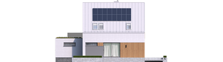 Projekt domu Mini 5 G1 PLUS - elewacja tylna