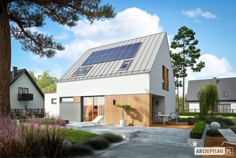 Projekt domu Mini 5 G1 PLUS - wizualizacja ogrodowa