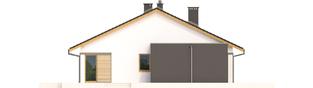 Projekt domu Rafael III G1 (30 stopni) - elewacja lewa