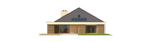 Projekt domu Gilbert G2 - elewacja tylna