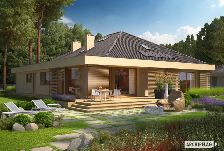 Projekt domu Gilbert G2 - wizualizacja ogrodowa