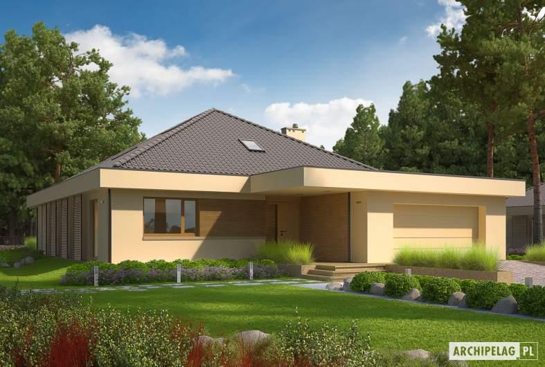 Projekt domu Gilbert G2 - wizualizacja frontowa