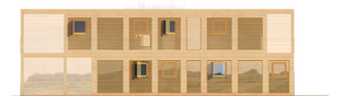 Projekt domu Roger (z wiatą) - elewacja prawa