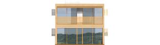 Projekt domu Roger (z wiatą) - elewacja tylna