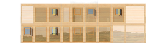 Projekt domu Roger (z wiatą) - elewacja lewa