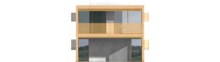 Projekt domu Roger (z wiatą) - elewacja frontowa