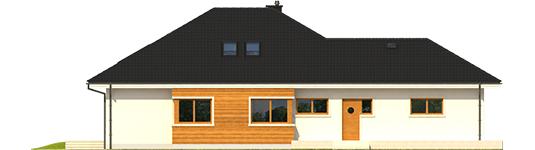 Liv 3 G2 ENERGO - Projekt domu Liv 3 G2 ENERGO PLUS - elewacja lewa