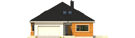 Liv 3 G2 ENERGO - Projekt domu Liv 3 G2 ENERGO PLUS - elewacja frontowa