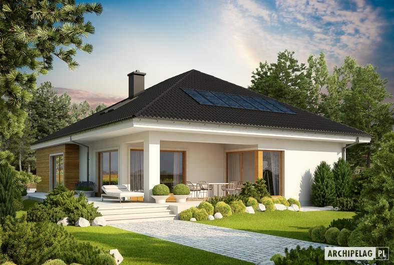 Projekt domu Liv 3 G2 ENERGO PLUS - wizualizacja ogrodowa