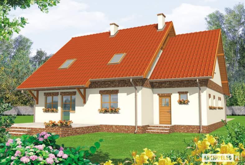 Projekt domu Amanda G1 - wizualizacja ogrodowa