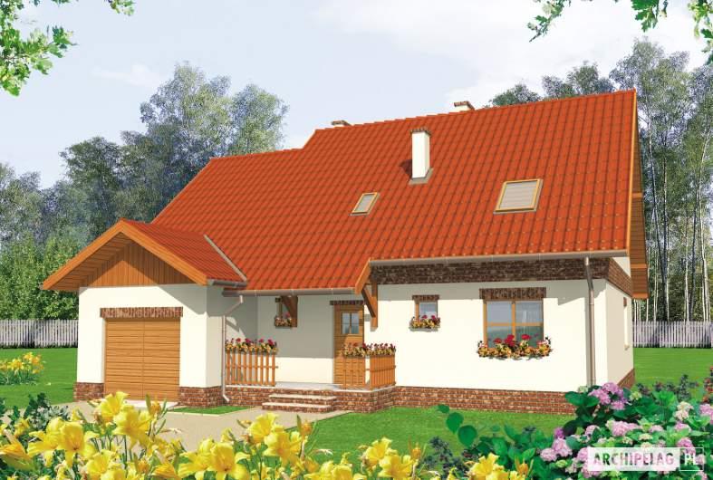 Projekt domu Amanda G1 - wizualizacja frontowa