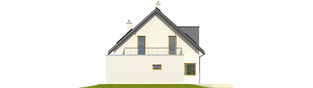 Projekt domu Mati II G1 - elewacja prawa