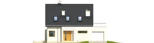 Projekt domu Mati II G1 - elewacja frontowa