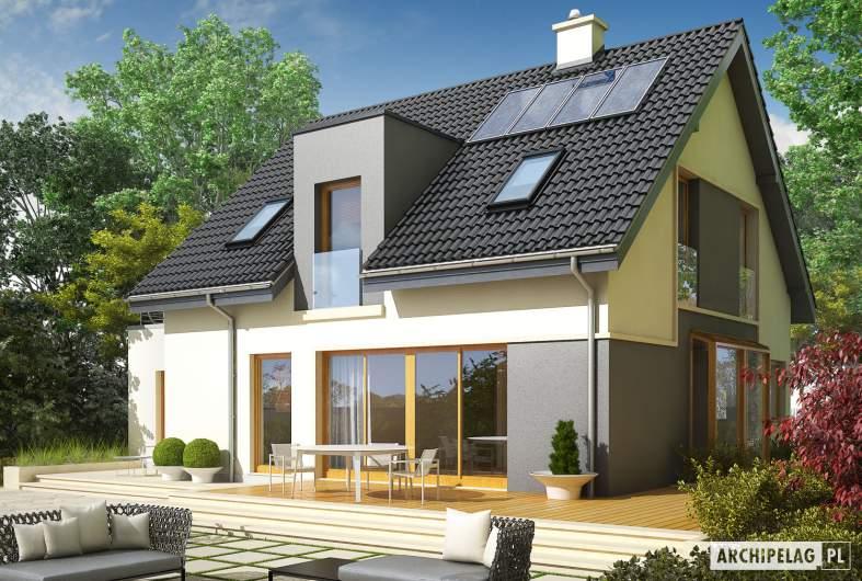 Projekt domu Mati II G1 - wizualizacja ogrodowa
