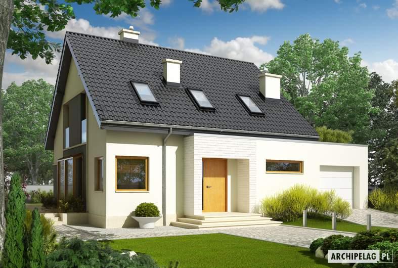 Projekt domu Mati II G1 - wizualizacja frontowa