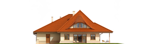 Projekt domu Petra G2 - elewacja tylna