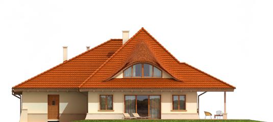 Petra G2 - Projekty domów ARCHIPELAG - Petra G2 - elewacja tylna