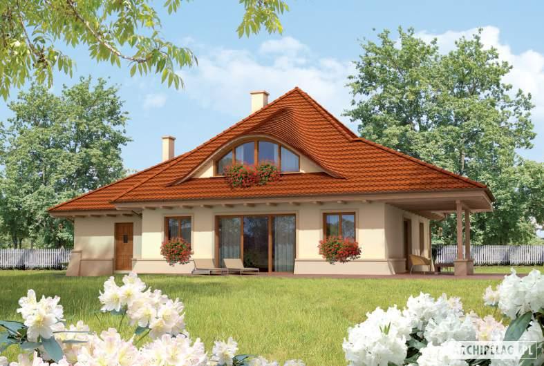 Projekt domu Petra G2 - Projekty domów ARCHIPELAG - Petra G2 - wizualizacja ogrodowa