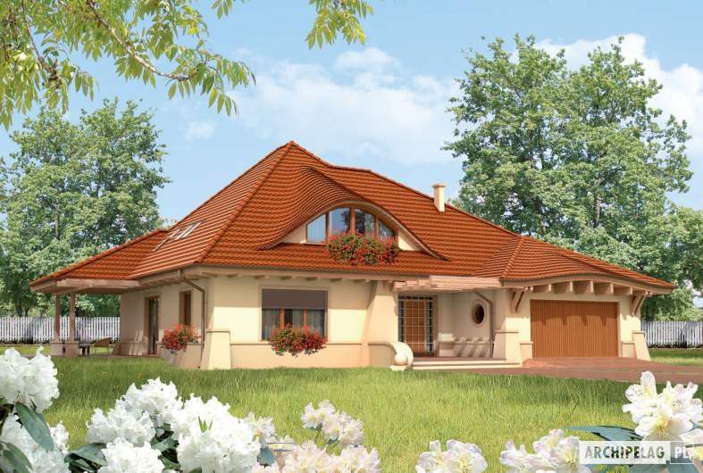 Projekt domu Petra G2 - Projekty domów ARCHIPELAG - Petra G2 - wizualizacja frontowa