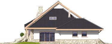 Яків (Г2) - Projekt domu Jakub G2 - elewacja lewa