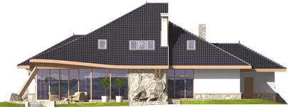 Яків (Г2) - Projekt domu Jakub G2 - elewacja tylna