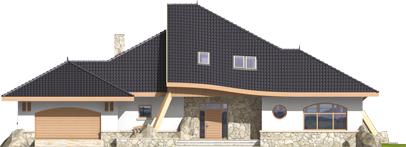 Яків (Г2) - Projekt domu Jakub G2 - elewacja frontowa