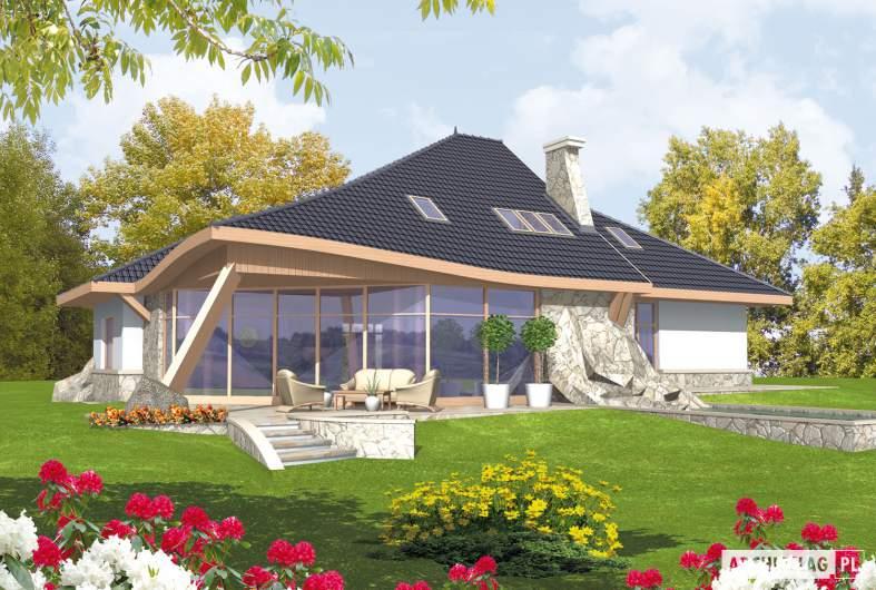 Projekt domu Jakub G2 - wizualizacja ogrodowa