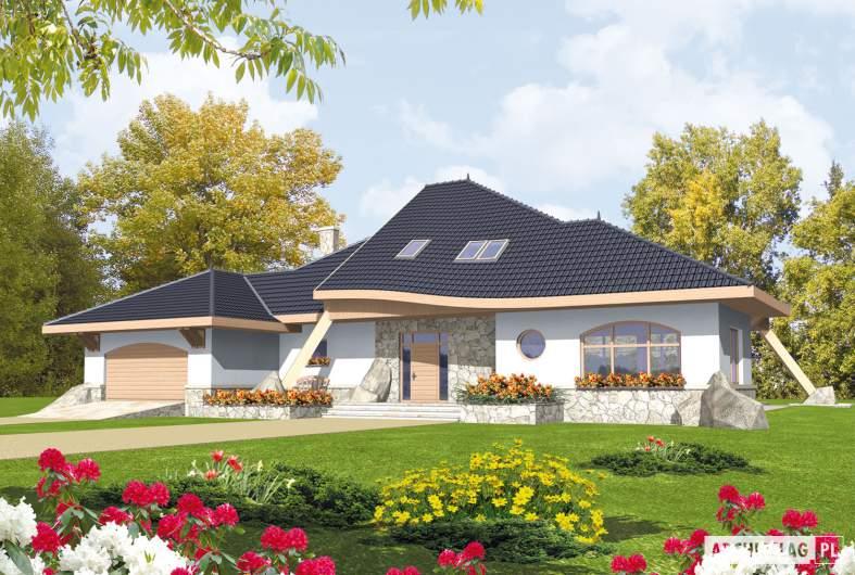 Projekt domu Jakub G2 - wizualizacja frontowa