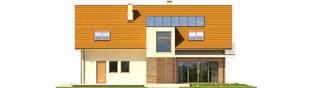 Projekt domu E6 G1 ECONOMIC (wersja B) - elewacja tylna