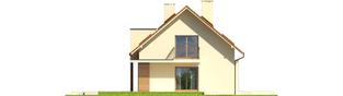 Projekt domu E6 G1 ECONOMIC (wersja B) - elewacja lewa