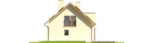 Projekt domu E6 G1 ECONOMIC (wersja B) - elewacja prawa