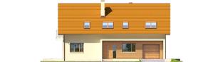 Projekt domu E6 G1 ECONOMIC (wersja B) - elewacja frontowa