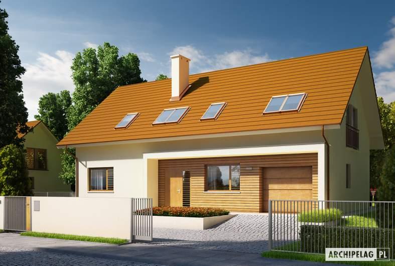 Projekt domu E6 G1 ECONOMIC (wersja B) - wizualizacja frontowa