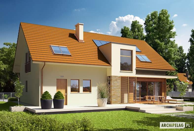 Projekt domu E6 G1 ECONOMIC (wersja B) - wizualizacja ogrodowa