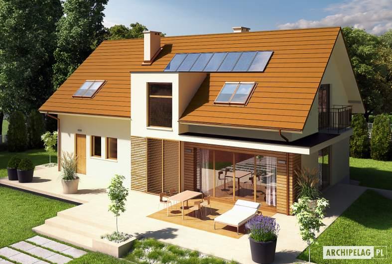 Projekt domu E6 G1 ECONOMIC (wersja B) - widok z góry