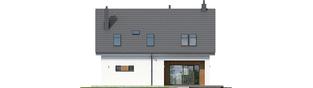 Projekt domu Tola - elewacja tylna