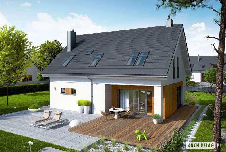 Projekt domu Tola - widok z góry
