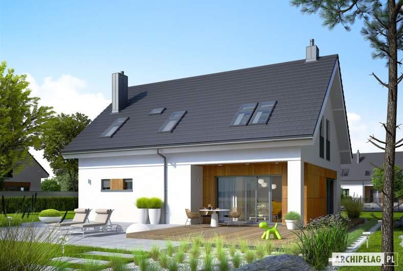 Projekt domu Tola - Projekty domów ARCHIPELAG - Tola - wizualizacja ogrodowa