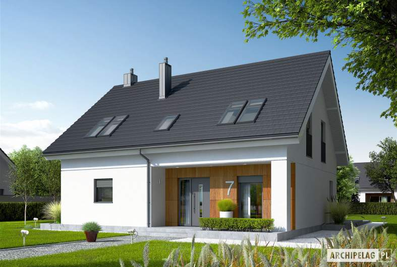 Projekt domu Tola - Projekty domów ARCHIPELAG - Tola - wizualizacja frontowa