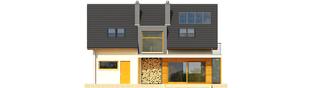 Projekt domu Katja - elewacja tylna
