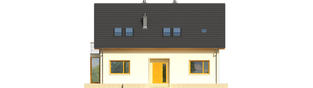 Projekt domu Katja - elewacja frontowa