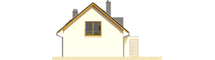 Projekt domu Katja - elewacja prawa