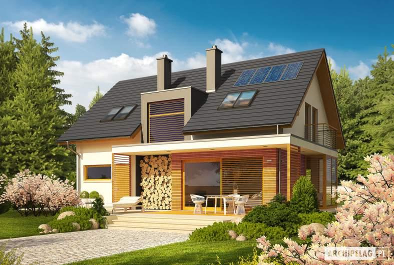 Projekt domu Katja - wizualizacja ogrodowa