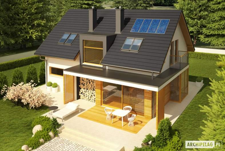 Projekt domu Katja - widok z góry
