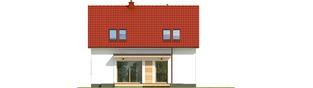 Projekt domu E12 III ECONOMIC - elewacja tylna