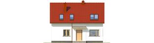 Projekt domu E12 III ECONOMIC - elewacja frontowa